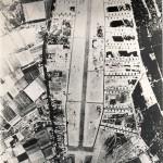 Luchtfoto van vliegstrip B91, Kluis bij Nijmegen, genomen 6 april 1945.