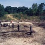 De kuil op de voormalige plaats van B91.