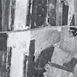 Malden noord 1949. Zichtbaar zijn de Droogsestraat, de Rijksweg en de Heiweg.