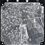 Luchtfoto van Malden noord en Brakkenstein in 1949. Zichtbaar zijn de restanten van B91. Foto Nr. SB46SINo175 Copyright: Kadaster.