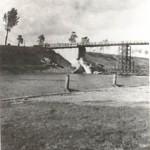 Bailey brug bij Malden ter vervanging van de opgeblazen brug over het Maas-Waal kanaal. Foto 018