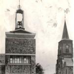 Even naast elkaar gelegen: de oude en de nieuwe toren. Foto 111